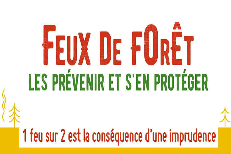 Logo de la campagne Feux de forêt, les prévenir et s'en protéger 2019