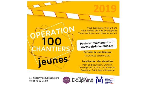 Vous avez entre 16 et 20 ans, vous habitez les Vals du Dauphiné, vous souhaitez réaliser un chantier jeune durant les vacances scolaires d'octobre 2019.