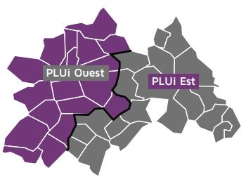 Carte des PLUi Est et Ouest