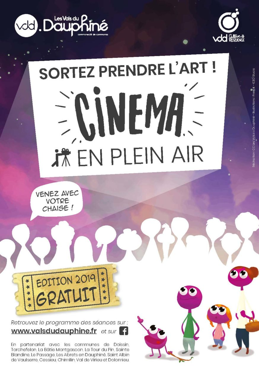 Flyer cinéma en plein air 2019 - recto