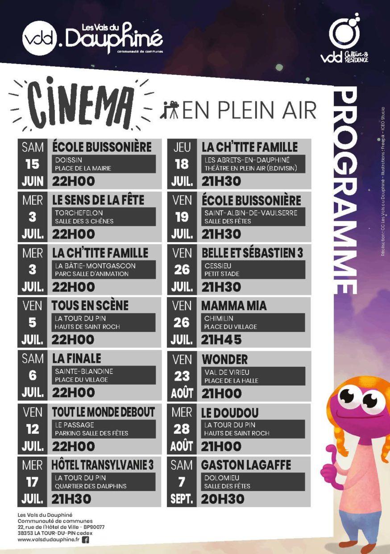 Flyer cinéma en plein air 2019 - verso