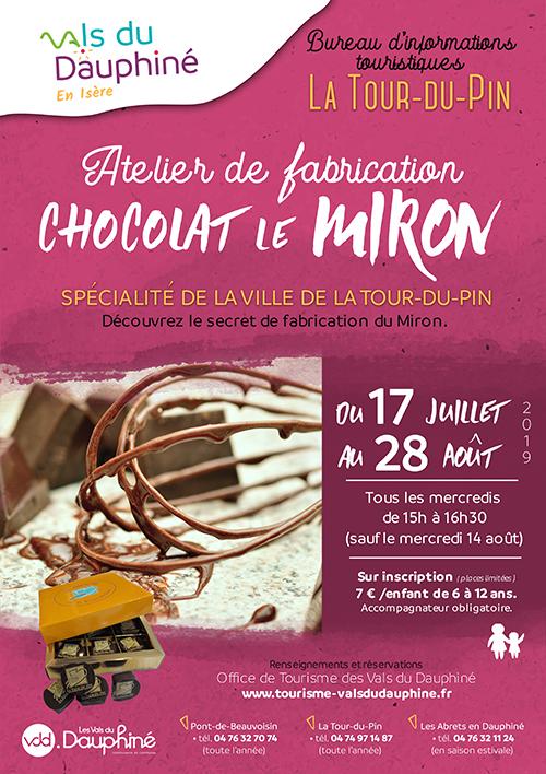 VDD AFFICHE Atelier de fabrication enfants : chocolat le Miron