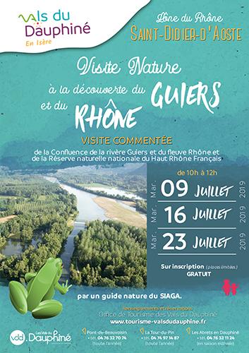 Affiche Visite nature Guiers-Rhône 2019
