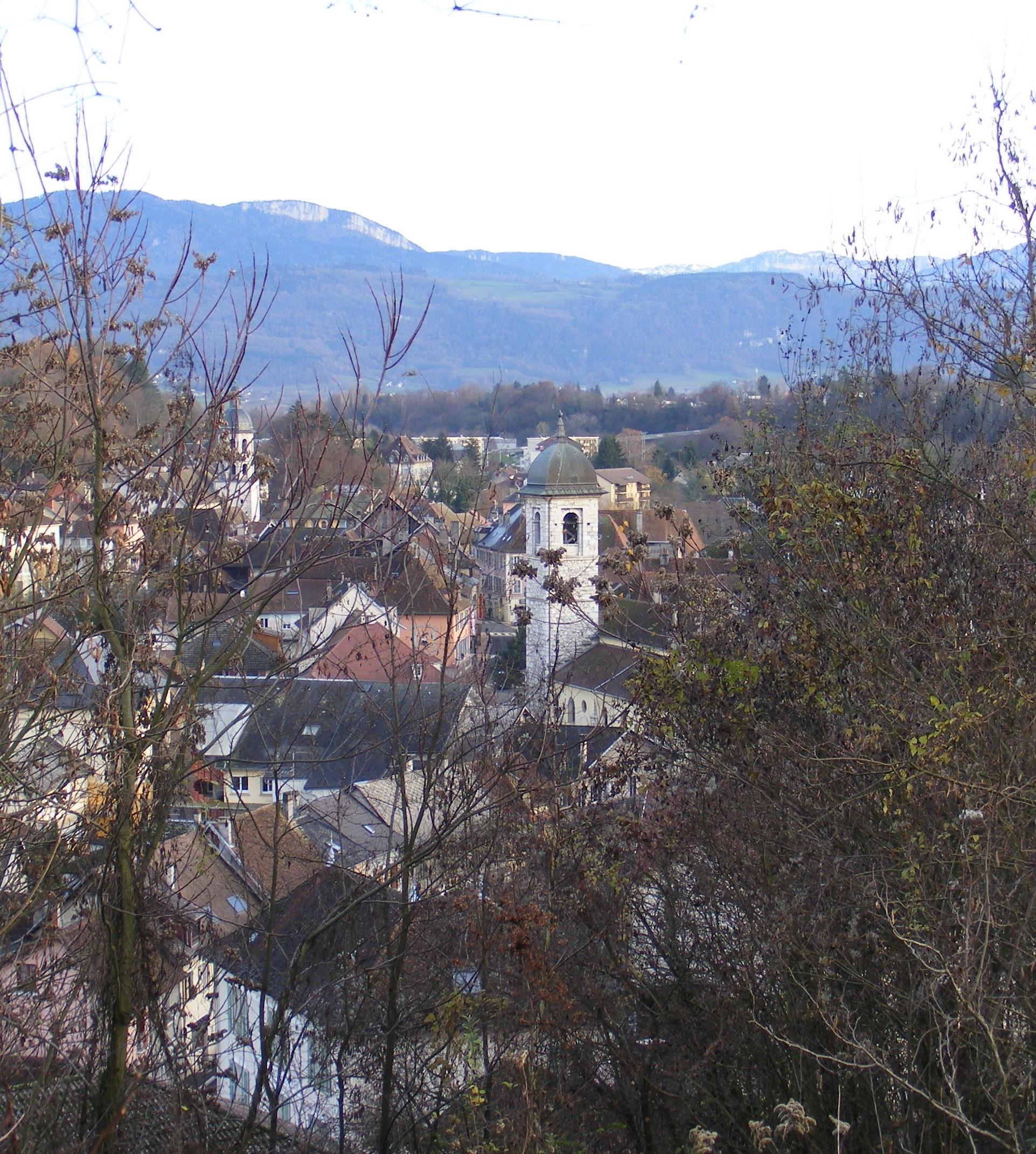 Vue des hauteurs pont de beauvoisin